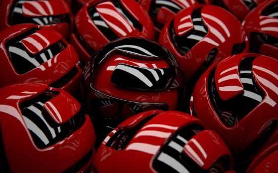 красивый, red, мяч, smartphone, obemnyi