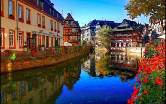 франция, страсбург, река