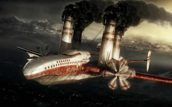 бомбардировщик, iron, выглядит, измеряется, вид, приборов, distance, оптических, небу, него,