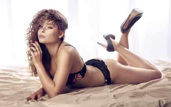 high, lingerie, кровать, lying, heels, женщина, sexy, stock, фото,