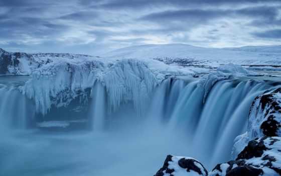 нравится, iceland, godafoss, исландии, landscape, рейтинг, водопад, пейзажи -, winter,