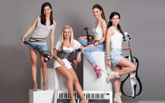 музыка, para, музы, android, instrumentos, девушка,