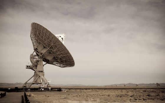 антенна, пустыня, небо, серое