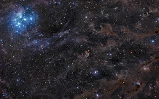 космос, плеяды, скопление, звездное, тельца, галактика, млечный, путь, созвездие, семь, рука, ориона, сестер, outer,
