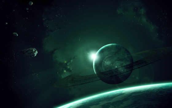 планета, кольца Фон № 24336 разрешение 1680x1050