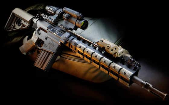 оружие, штурмовая винтовка, сумка, прицел, assault rifle