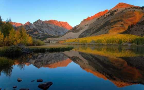 осень, озеро, лес