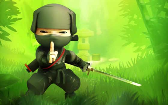 ninja, картинка, рисованный