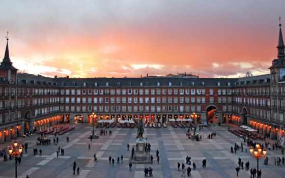 plaza, мадрид, mayor, испания, площадь, коррида, школы, испании,