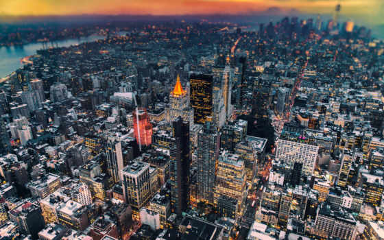 manhattan, нью, york, сша, new, небоскребы, высоком,