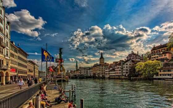 swiss, швейцария, река, limmat, цюрих, страница, reki, rylik,