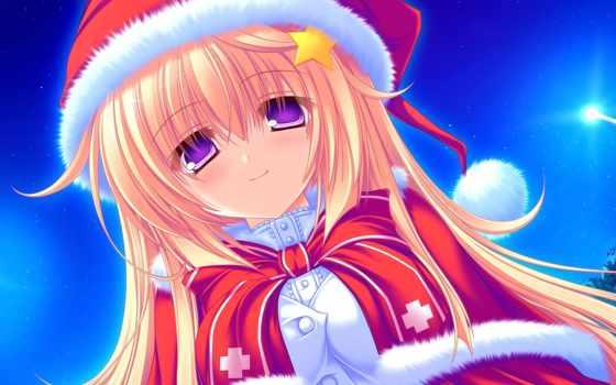 anime, christmas, hành, sinh, giáng, nın,