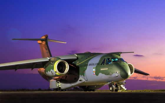 самолёт, photos, kc, небо, fab, оранжевое, embraer, flickr,