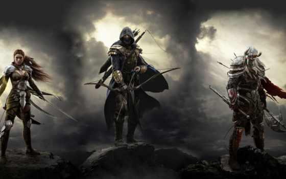 scrolls, elder, online, игры,
