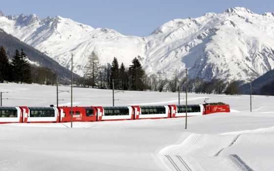 поезд, поезда, winter, пассажирский, снегах, швейцарии, пассажирские, город, горы, favourite,