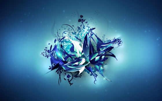 vector, blue
