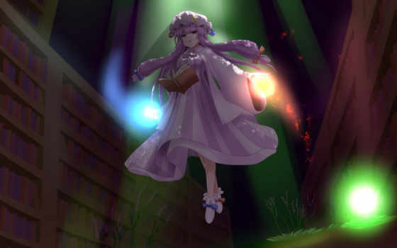 touhou, anime, patchouli, knowledge, art, project, mage, hair, комментах, продолжение,