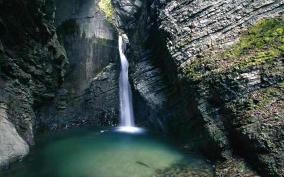 водопад, kozjak, everything, waterfalls, hdr, kobarid, словении, zhivotnye,