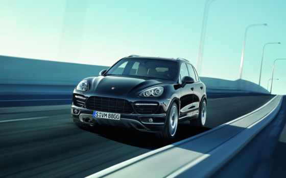 porsche, cayenne, front, sioux, angle, view, turbo, and, black, be,