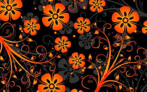 живопись, цветы, яркие