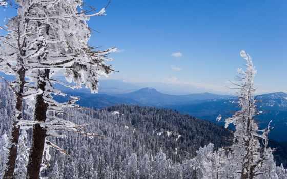 winter, красивые, горы