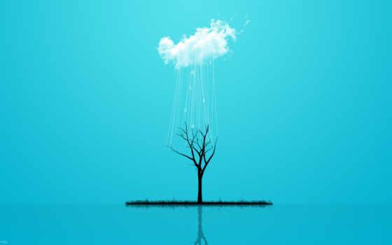 fond, iphone, ecran, блог, дерево, голубой, облако,