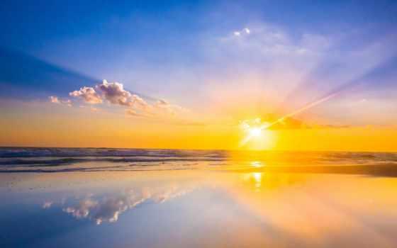 rising, море, sun