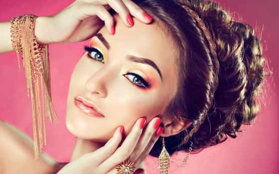 клипарт, растровый, devushki, макияж, макияжем, девушка, дизайна, графики, женщина, women,