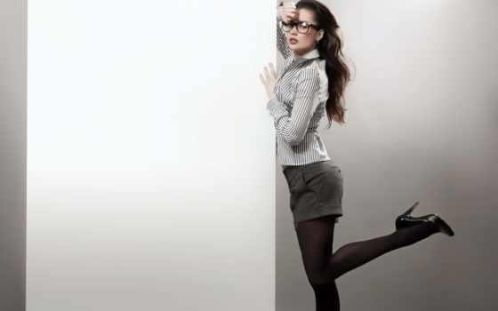 девушка, клипарт, реклама, женщина, знамя, растровый, очках, очки, browse,