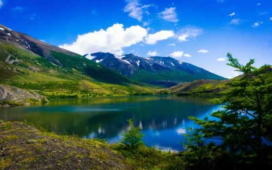 горы, озеро, пейзажи -, аргентина, patagonia, landscape, chile, аргентина, природа, панорама,
