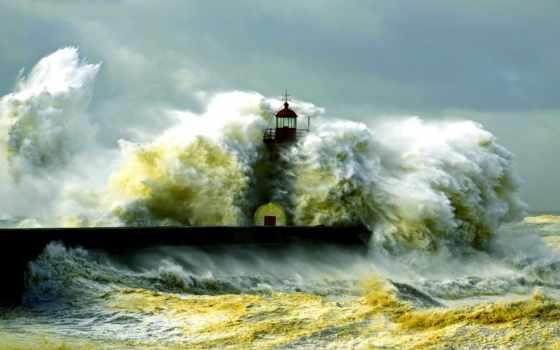 waves, буря, волна