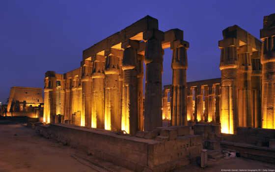 karnak, храм, son, louxor, lumière, spectacle, пирамида