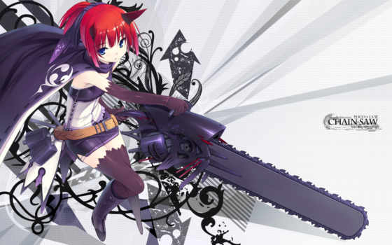 anime, hair, chan, chainsaw, poco, red, similar, konachan, with, tags, horns,