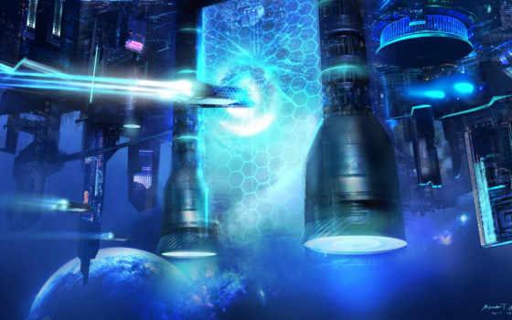 portal, fantasy, space