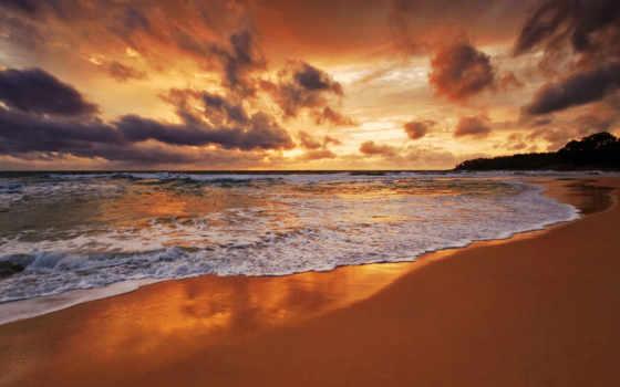 море, песок, волна