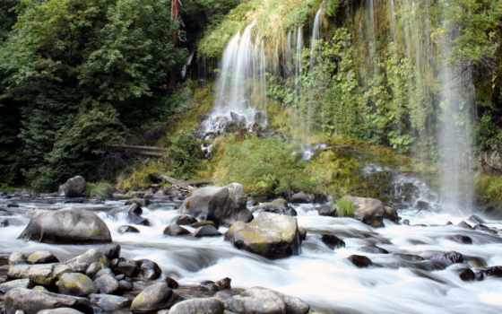 водопад, alive, marine, гора, река, буря, оформление, water, красивый, play, новинка