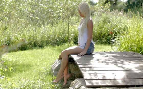 девушка, природа, blonde