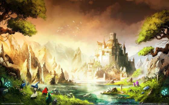 природа, fantasy, castle