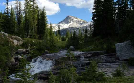 oregon, природа, штата, река, орлан, шапка, гора,
