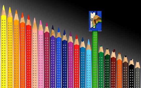 карандаши, будет, color, цветные, colored, разных, pencils, карандашей, точилка,