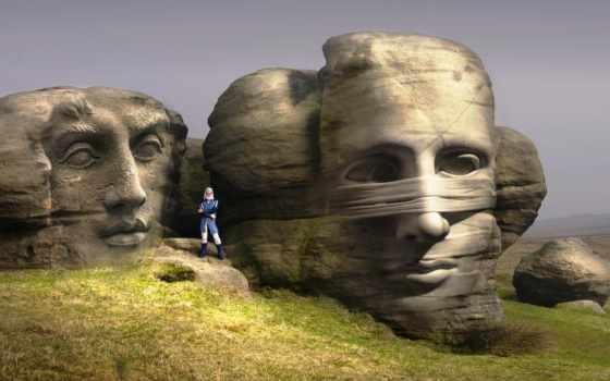 музыка, статуя, фон, fearless,