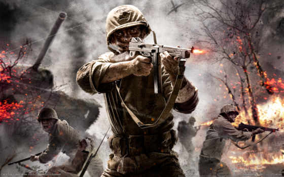 duty, call, war, world, game, cod, оружие, гьхщ,