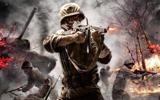 duty, call, war, world, game, cod, оружие, гьхщ,