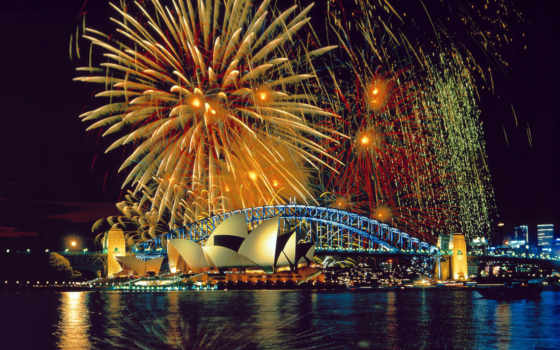sydney, fireworks Фон № 23422 разрешение 1920x1200