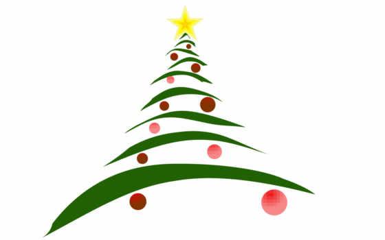новогодней, рисунок, елки, christmas, linux,