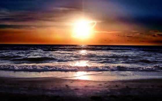 закат, самый, красивый