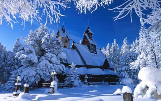 снег, разное, христианские