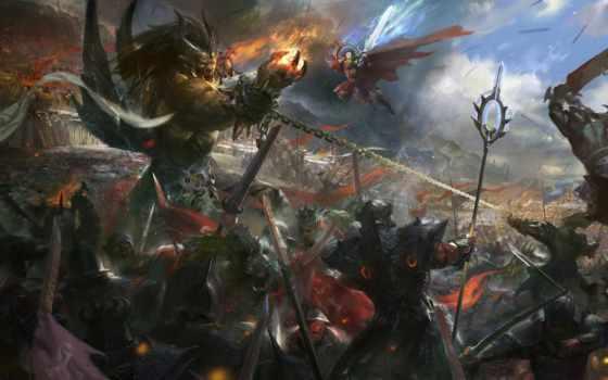 warhammer, war, total, chaos, демон, воин, битва, за, ходов,