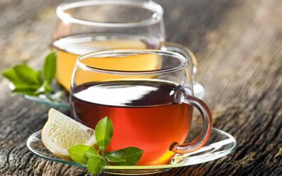 ,чай, красивые, cup, lemon,