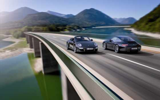 машины, тачки, porsche, картинка, black, издание, взгляд, скорость, дороги, авто,